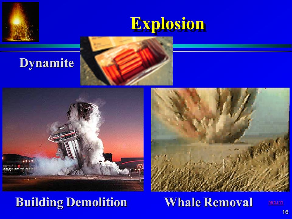 Explosion Dynamite Building Demolition Whale Removal return