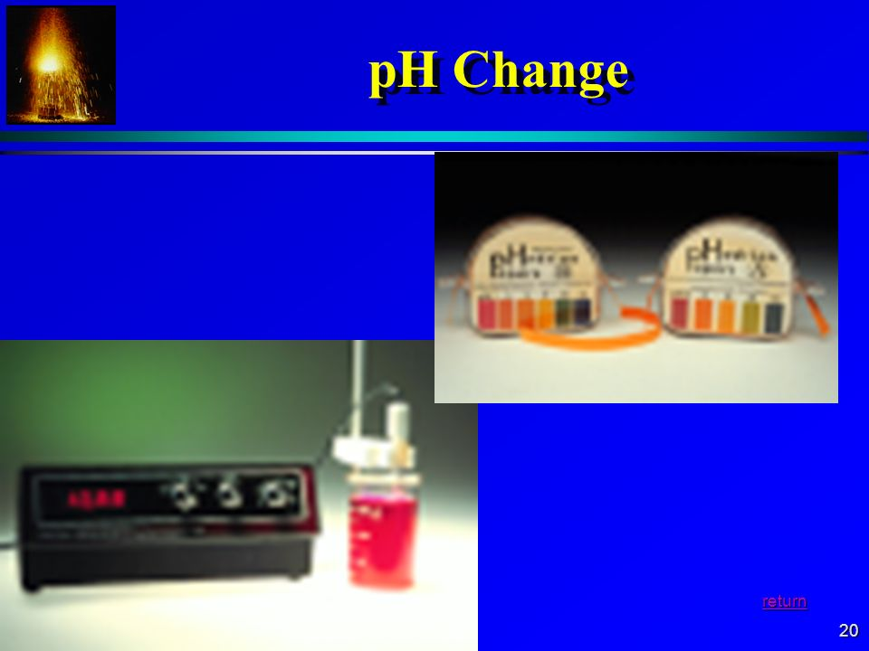pH Change return