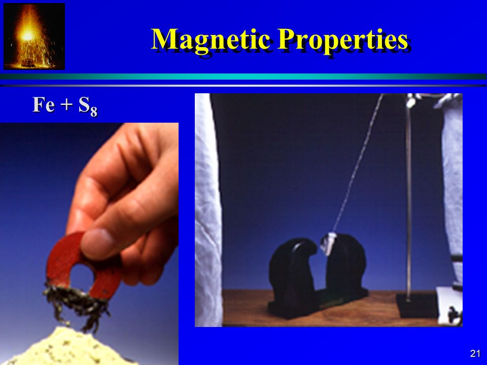 Magnetic Properties Fe + S8
