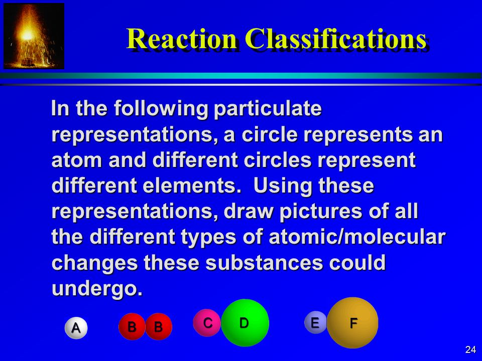 Reaction Classifications