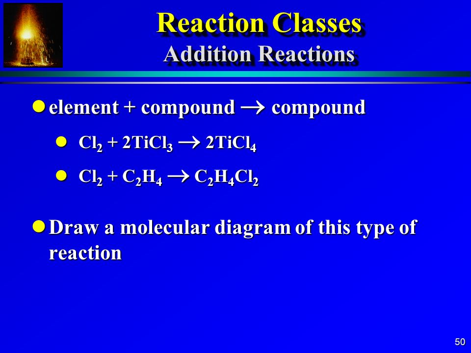 Reaction Classes Addition Reactions