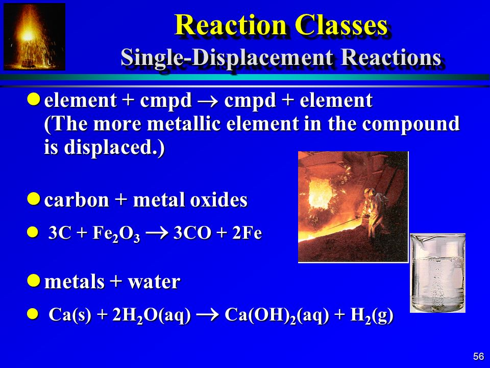Reaction Classes Single-Displacement Reactions