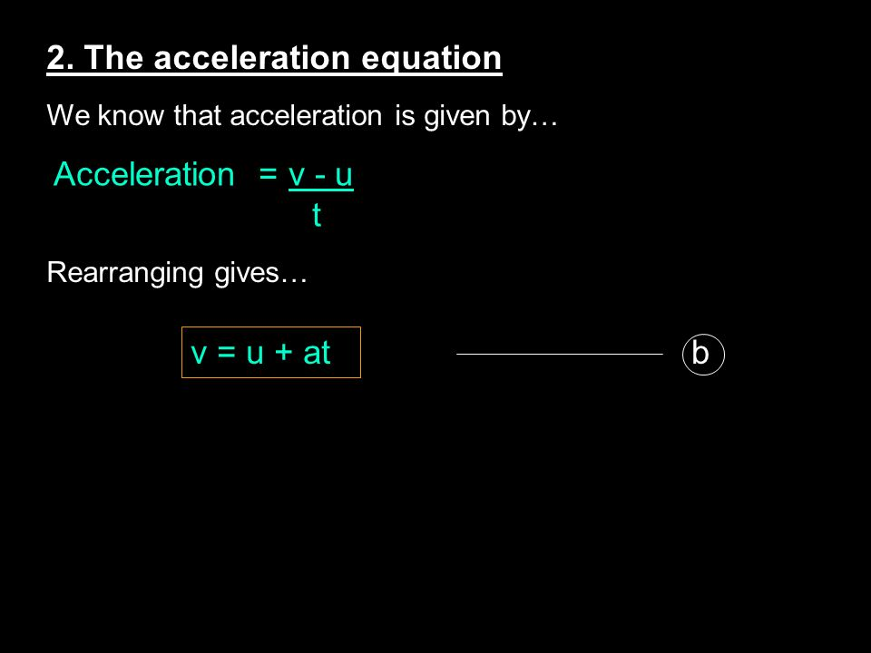 2. The acceleration equation