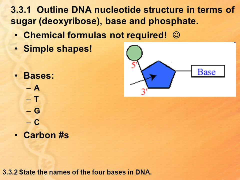 Chemical formulas not required!  Simple shapes! Bases: