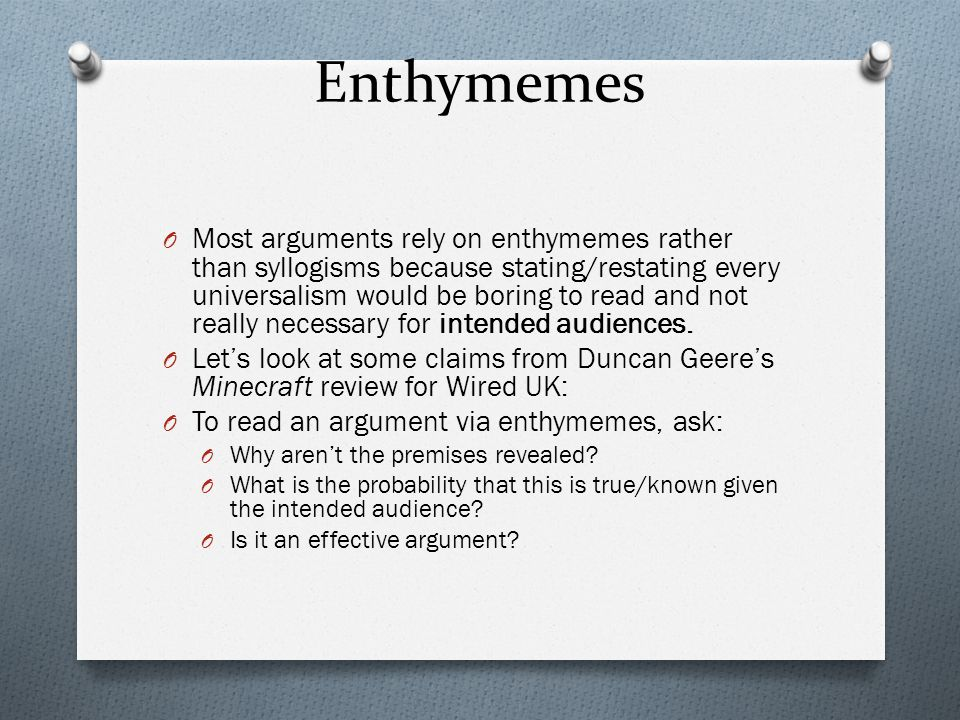 Enthymemes