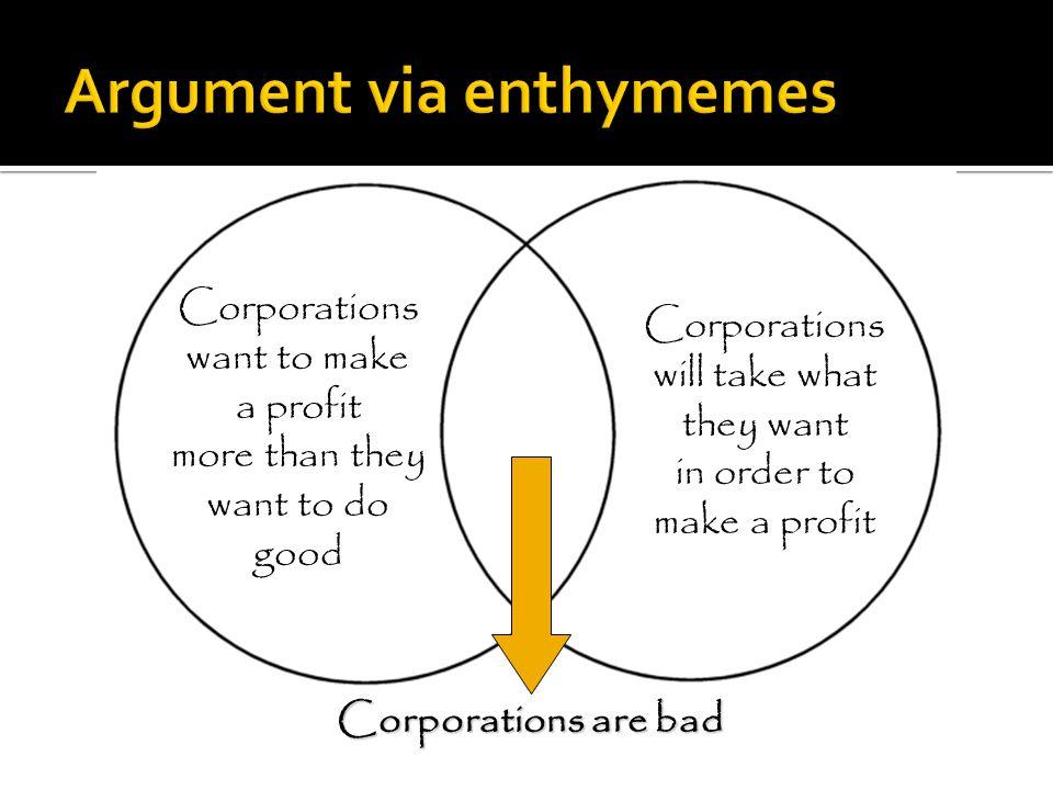 Argument via enthymemes
