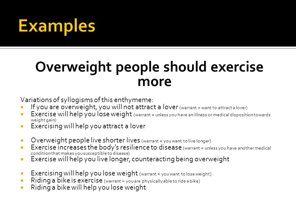 Overweight people should exercise more