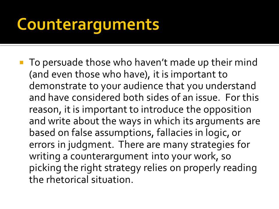 Counterarguments