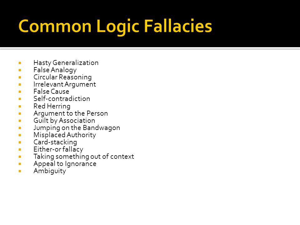 Common Logic Fallacies