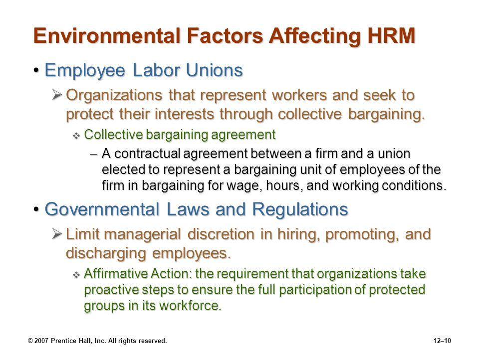 Environmental Factors Affecting HRM