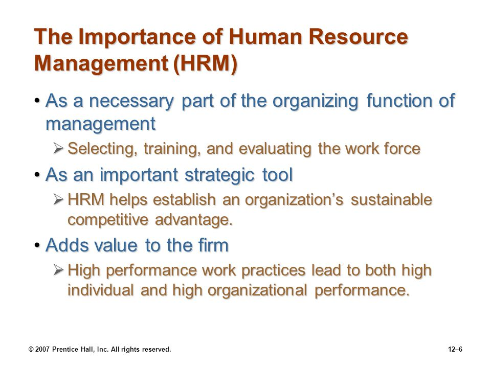 The Importance of Human Resource Management (HRM)