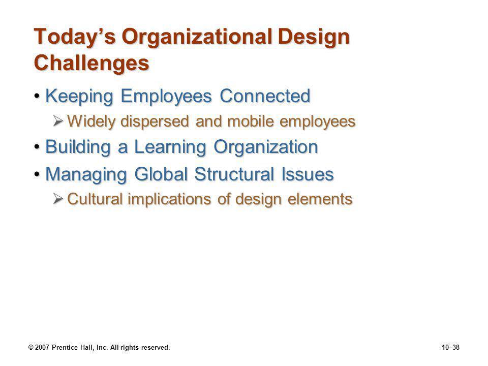 Today's Organizational Design Challenges