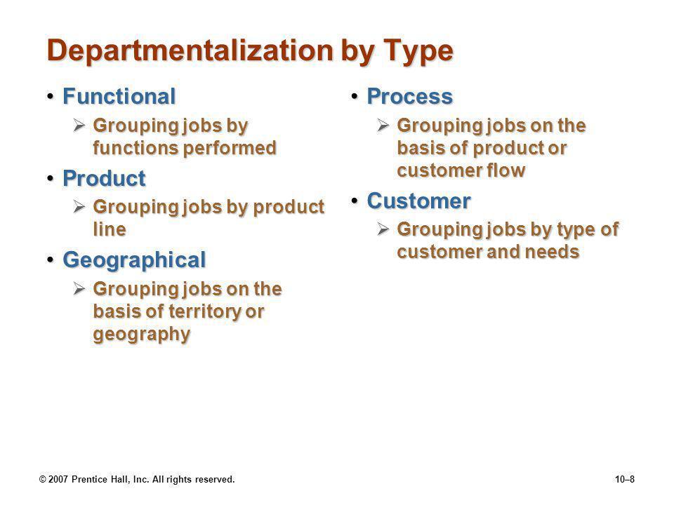 Departmentalization by Type