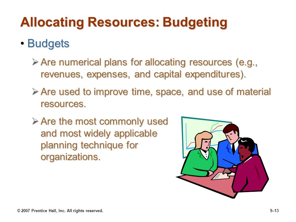 Allocating Resources: Budgeting