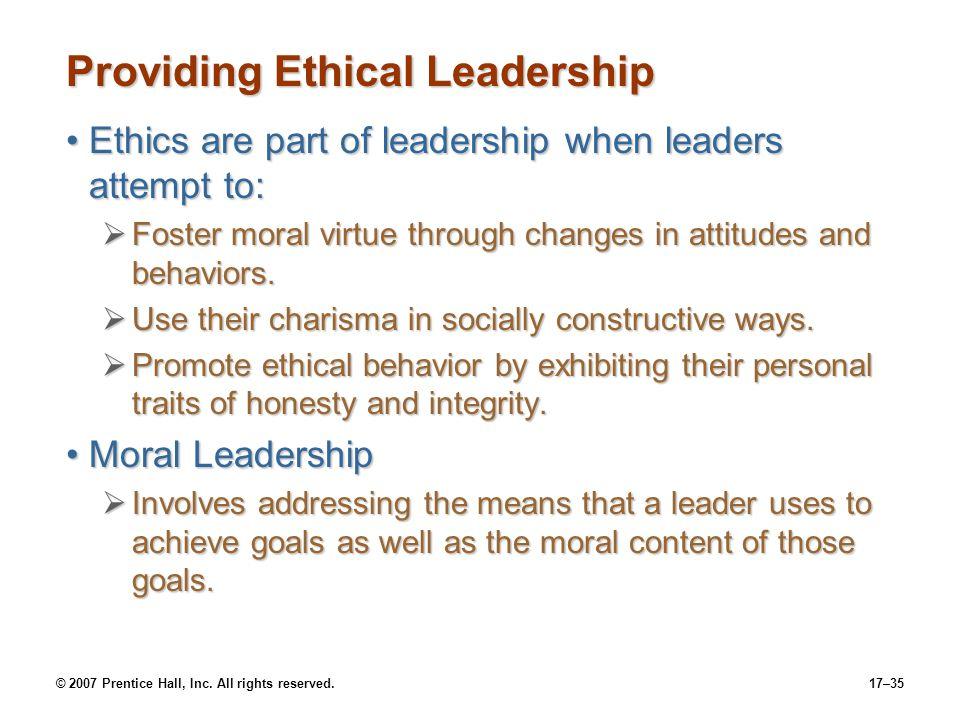 Providing Ethical Leadership