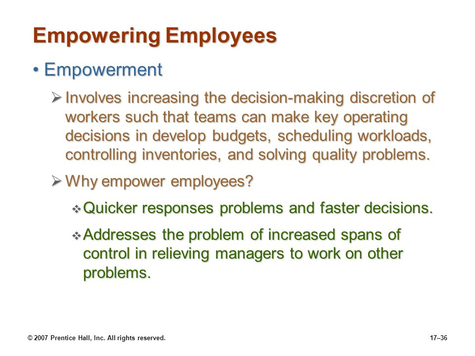 Empowering Employees Empowerment