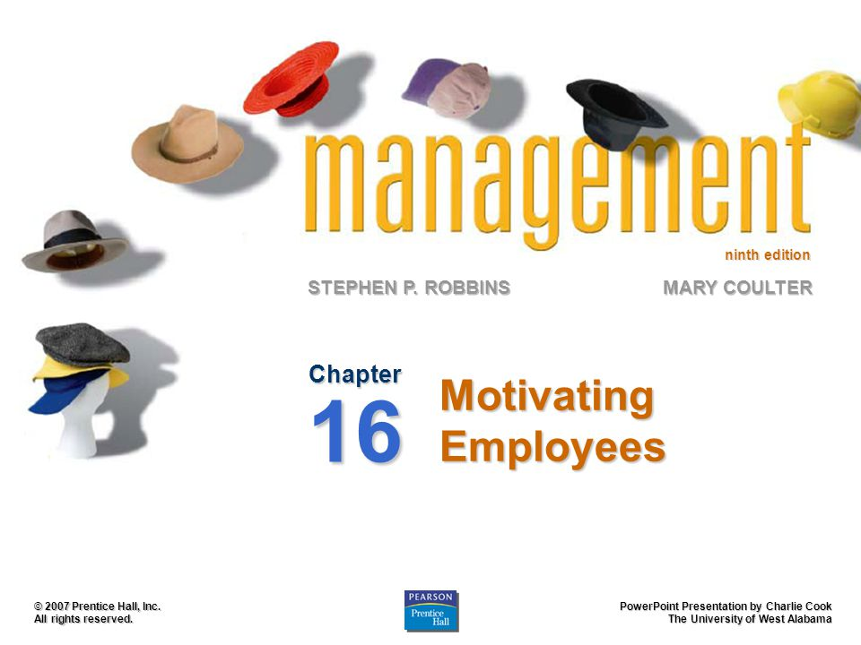 Motivating Employees Chapter 16
