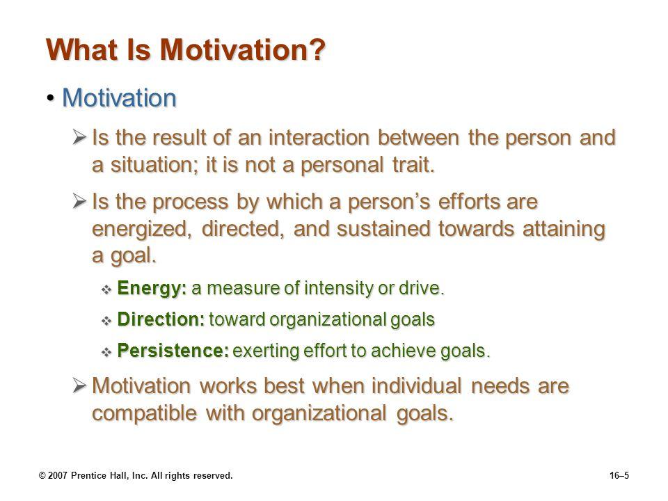 What Is Motivation Motivation