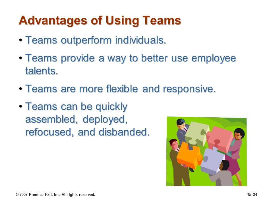 Advantages of Using Teams