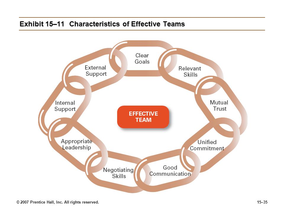 Exhibit 15–11 Characteristics of Effective Teams