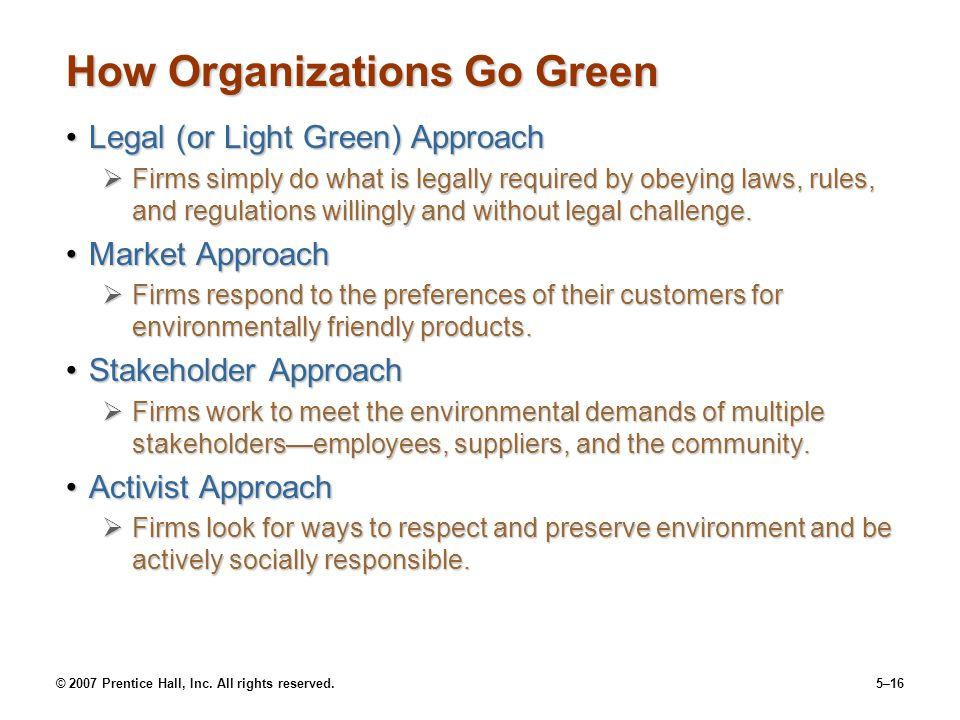 How Organizations Go Green