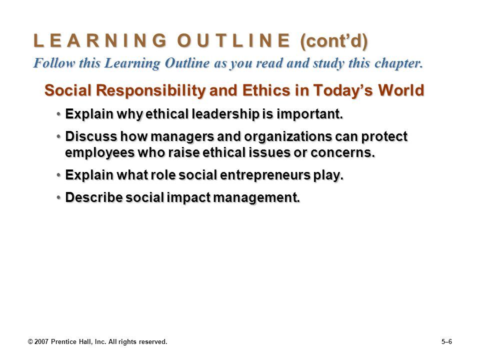 the role of ethics and social responsibilities in management With corporate social responsibility, corporate social responsiveness, or any other  interaction  deployment in the marketplace depend largely on the management  of the  will continue to have a, if not the, major role to play in this area.