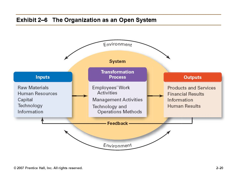 Exhibit 2–6 The Organization as an Open System