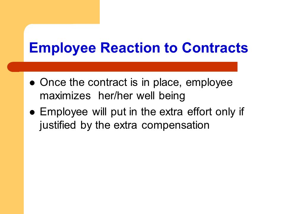 Employee Reaction to Contracts