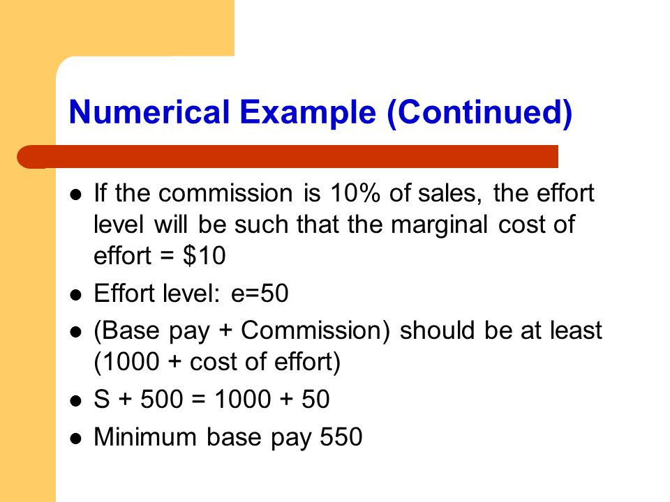 Numerical Example (Continued)