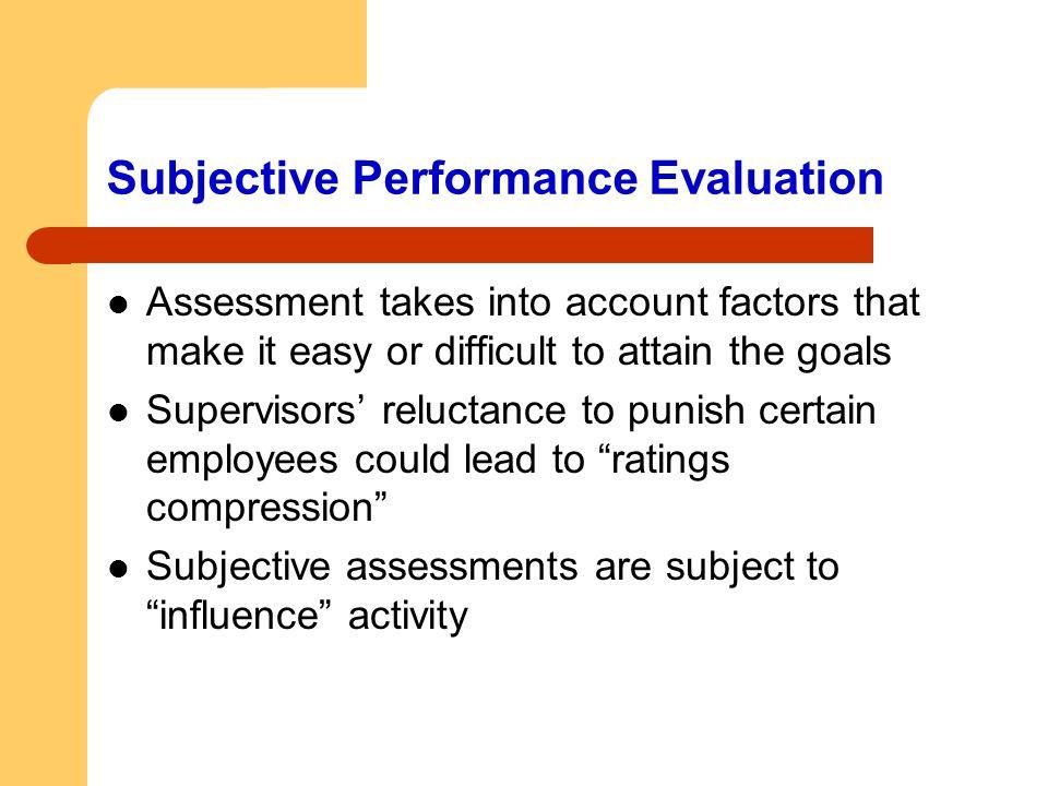 Subjective Performance Evaluation