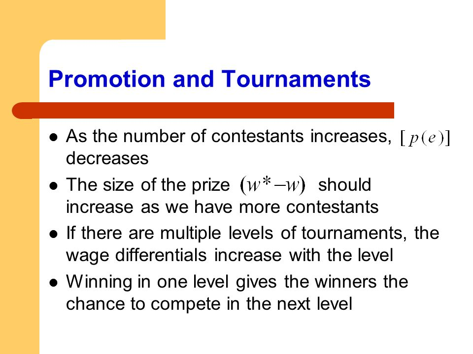 Promotion and Tournaments