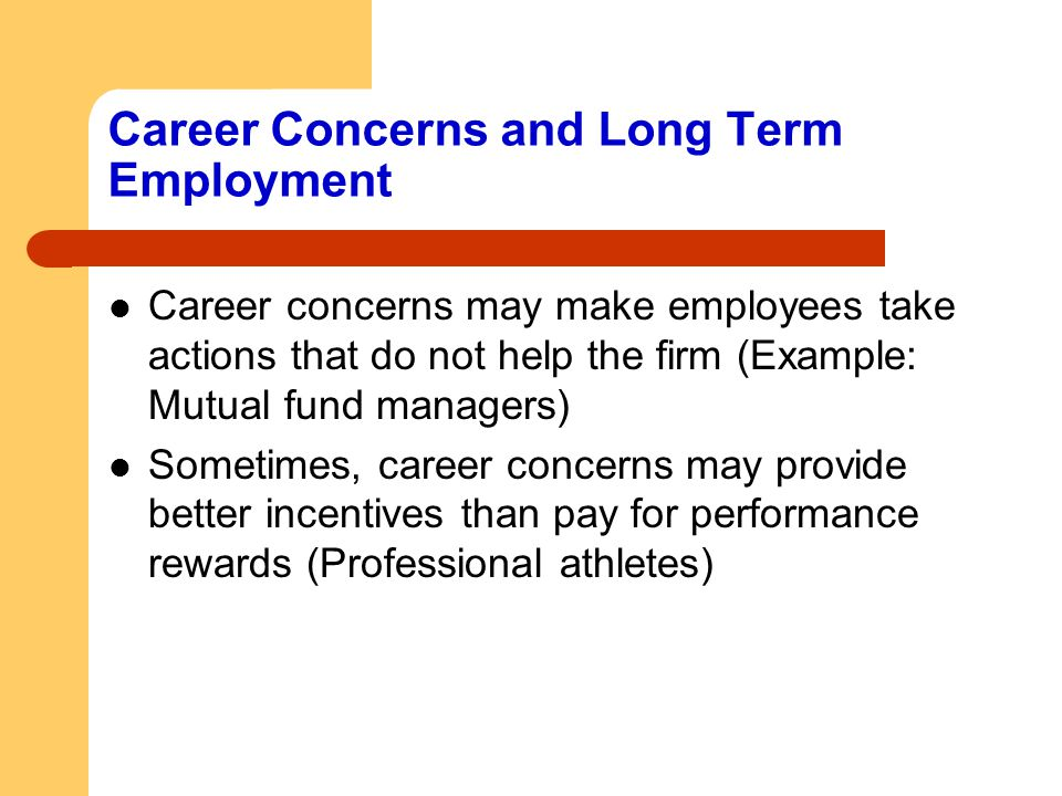 Career Concerns and Long Term Employment