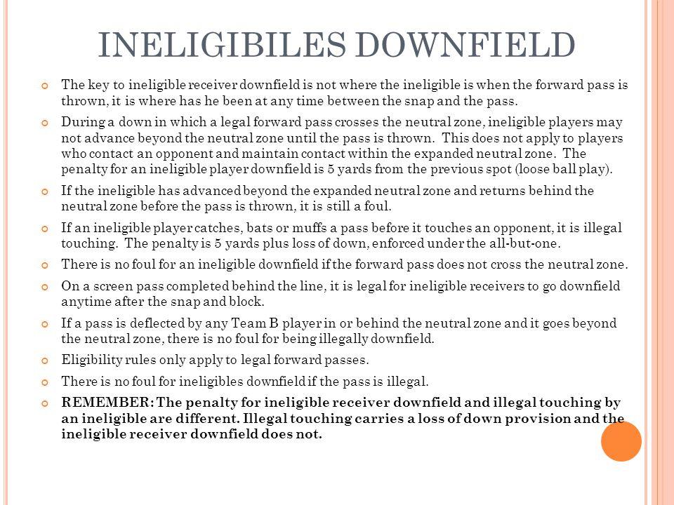 INELIGIBILES DOWNFIELD