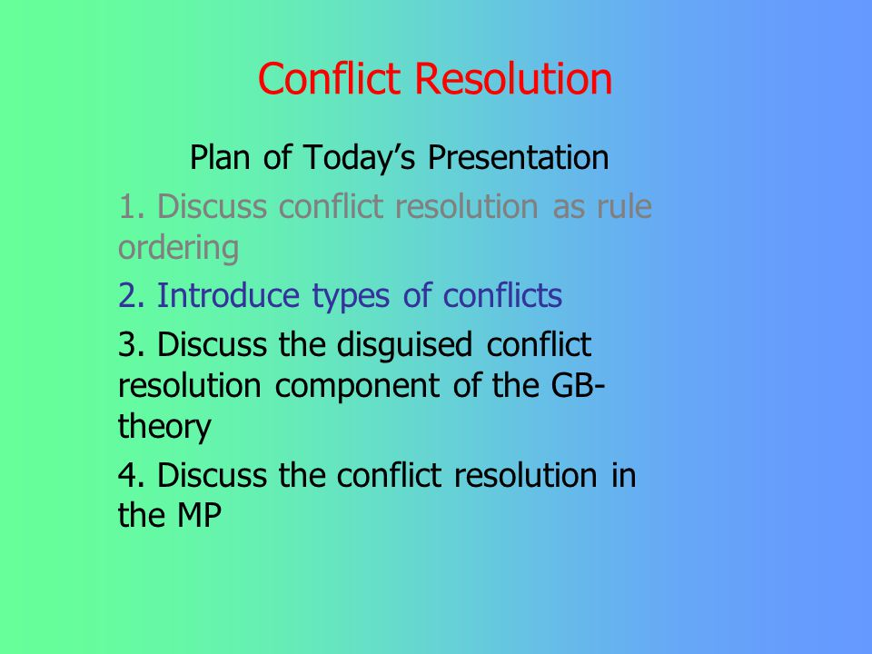 Plan of Today's Presentation