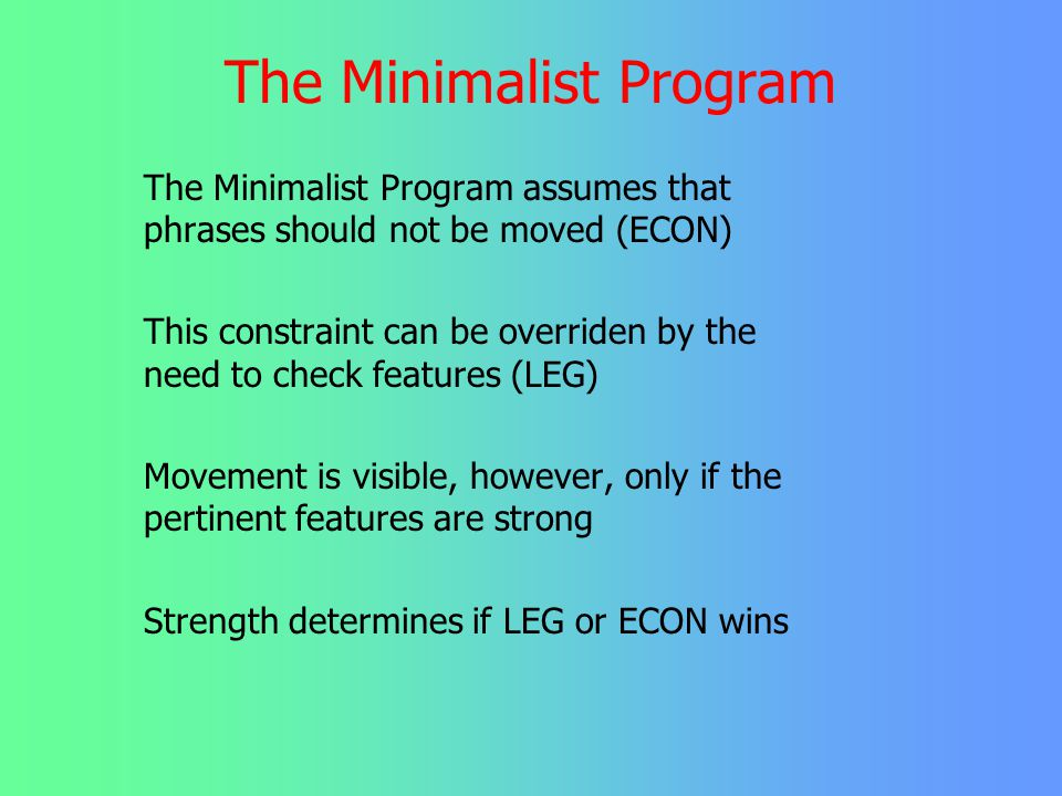 The Minimalist Program