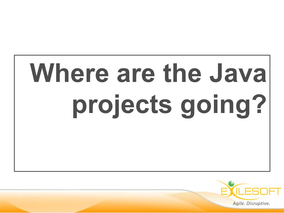 Where are the Java projects going