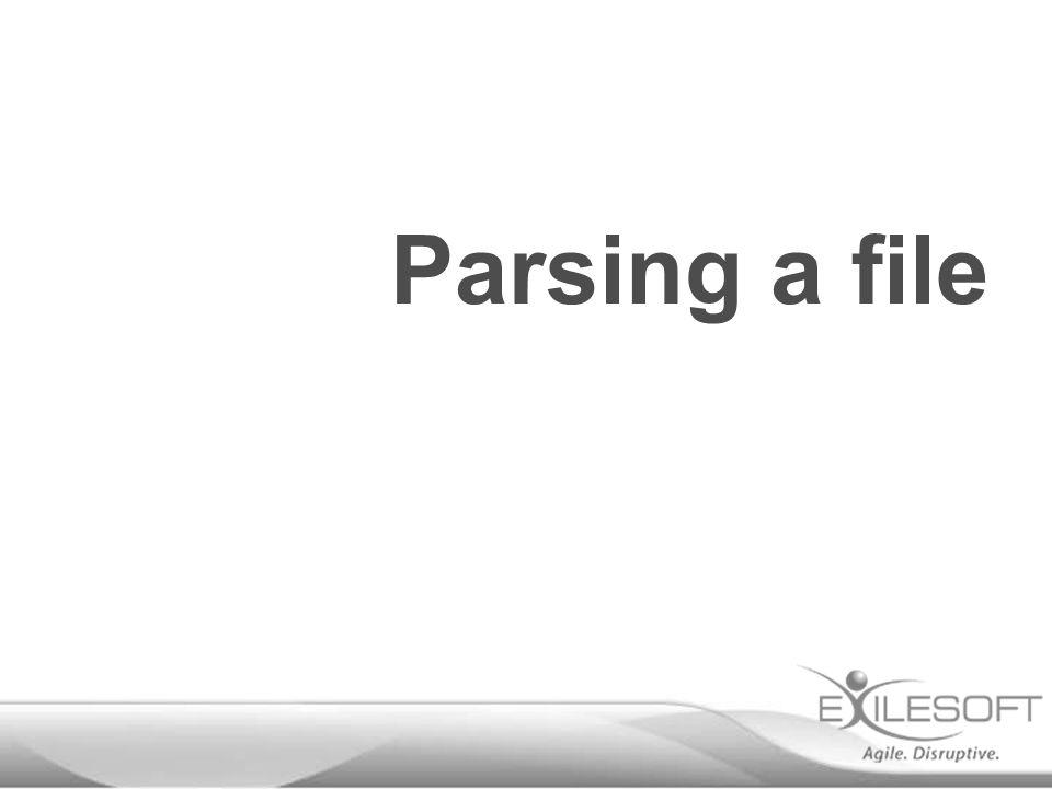 Parsing a file