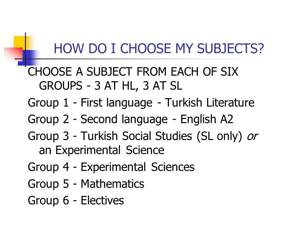 HOW DO I CHOOSE MY SUBJECTS