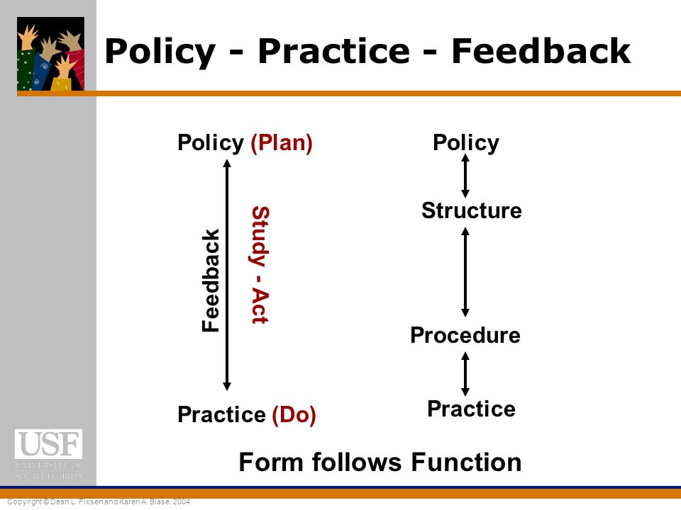 Policy - Practice - Feedback