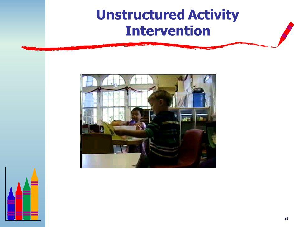 Unstructured Activity Intervention