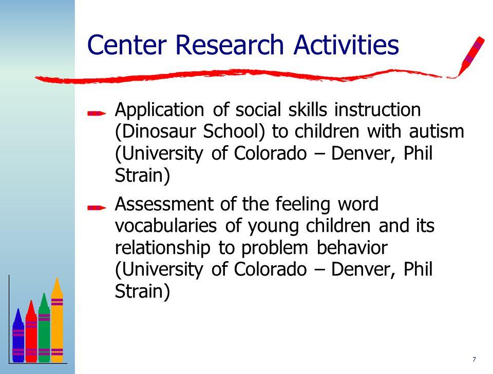 Center Research Activities