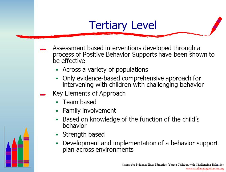 Tertiary Level Assessment based interventions developed through a process of Positive Behavior Supports have been shown to be effective.