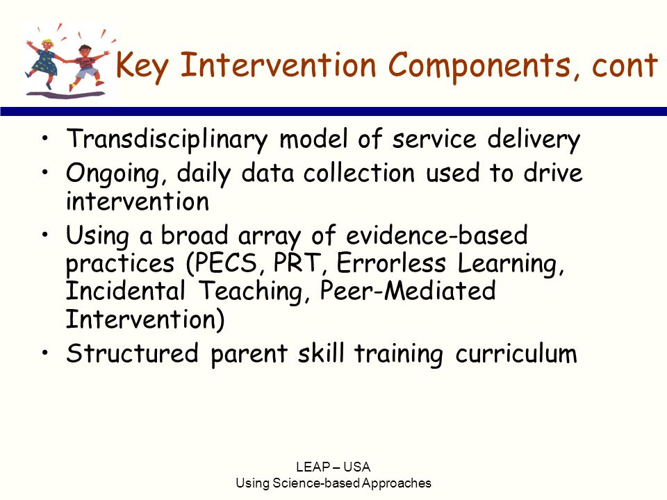 Key Intervention Components, cont
