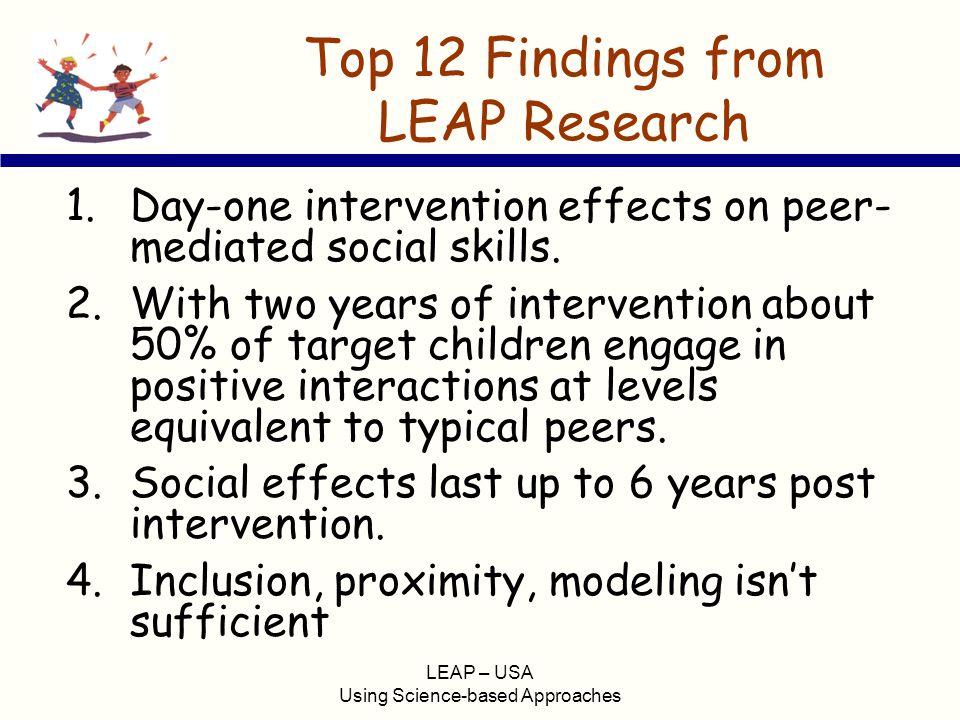 Top 12 Findings from LEAP Research