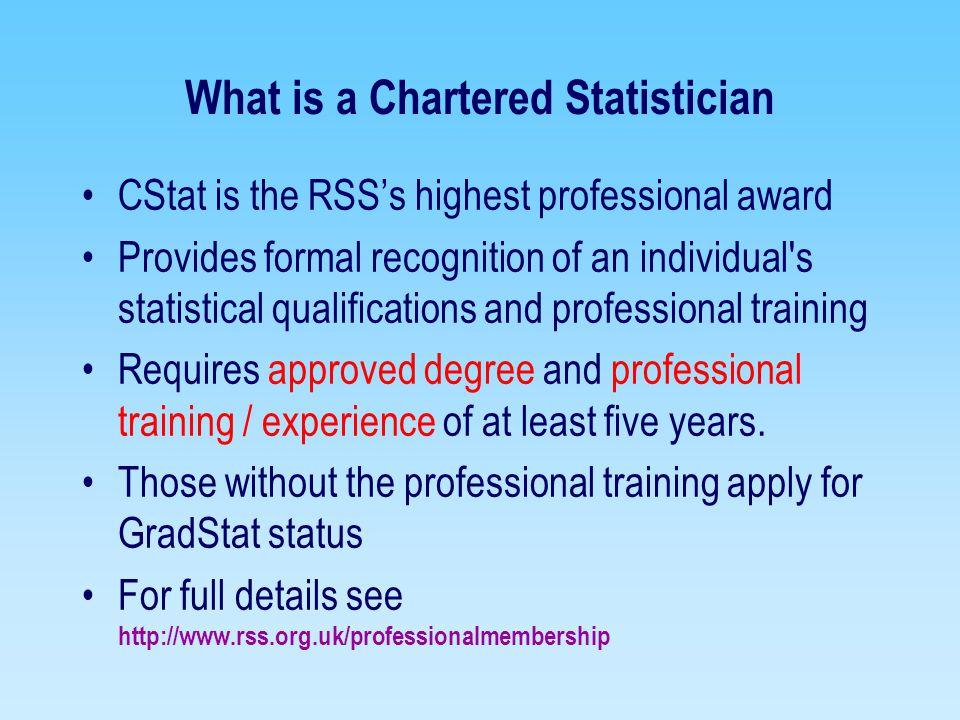 What is a Chartered Statistician