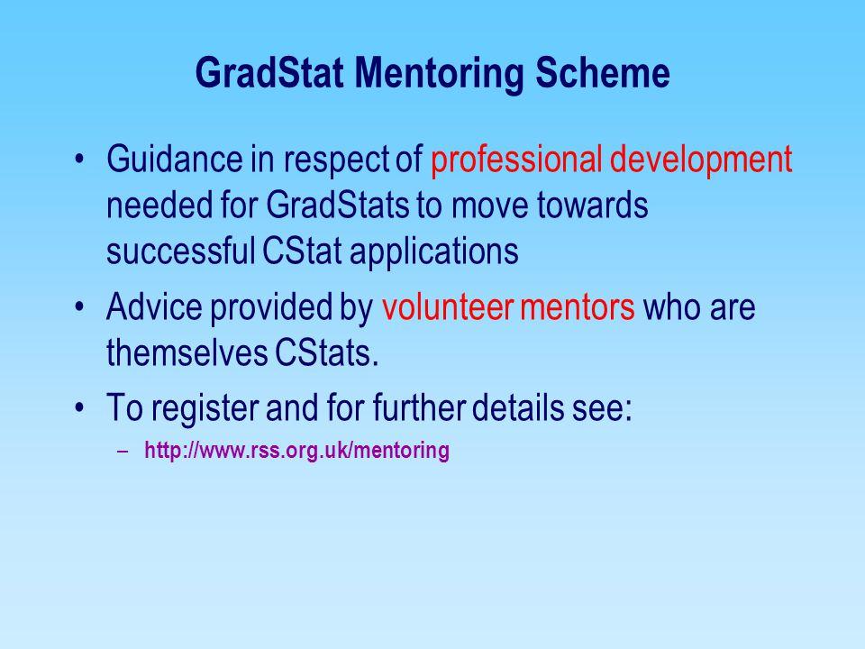 GradStat Mentoring Scheme