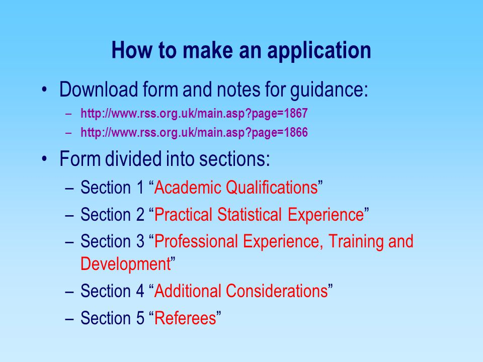 How to make an application