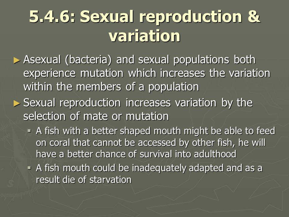 5.4.6: Sexual reproduction & variation