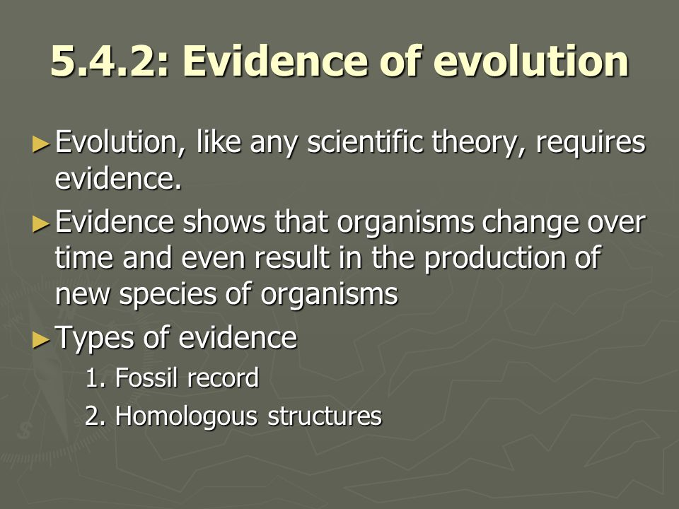 5.4.2: Evidence of evolution