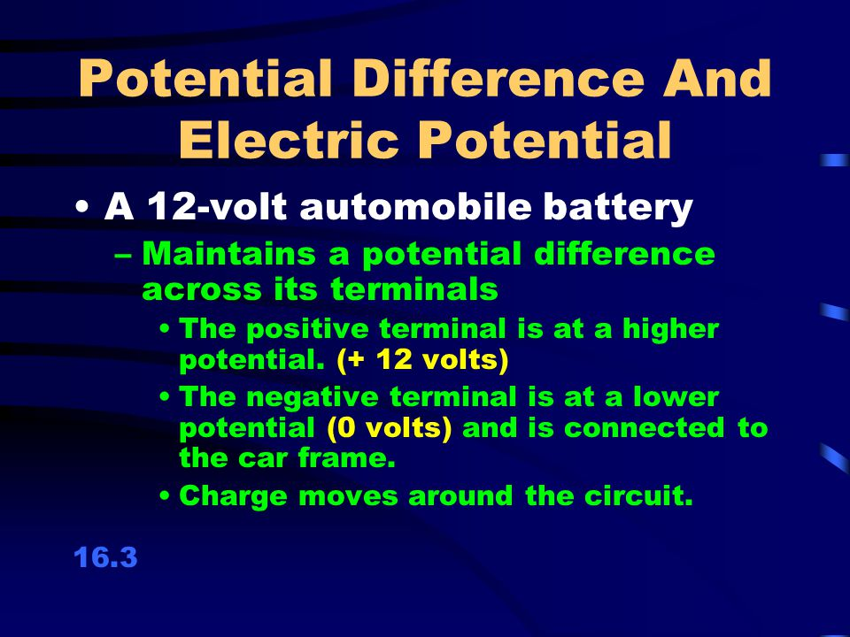 Potential Difference And Electric Potential